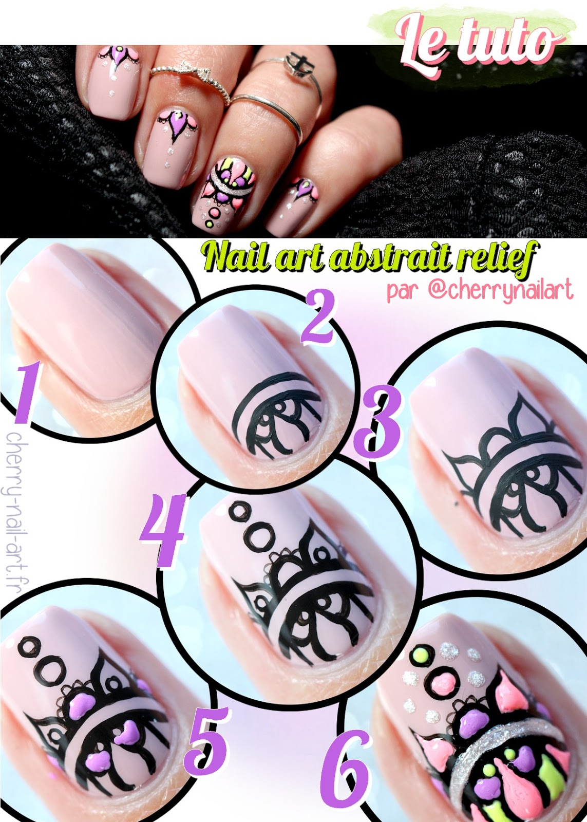 tuto-photo-nail-art-abstrait-relief-vernis-fluo-mandala