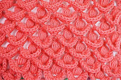 5 - Crochet IMAGEN Punto a relieve combinado con punto puff. MAJOVEL CROCHET