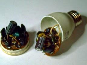 isi dalam lampu CFL