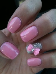 Baroque Beauty Lounge: Pink Bow Nails
