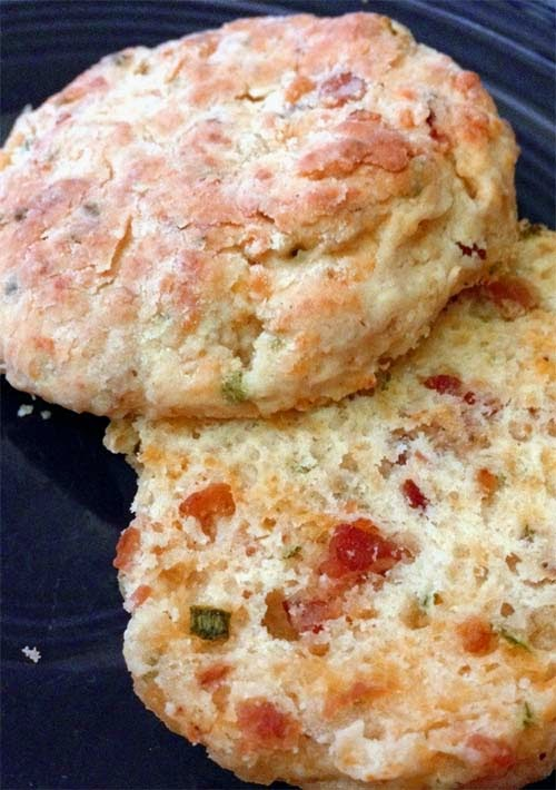 Cheddar Buttermilk Biscuits with Bacon and Chives