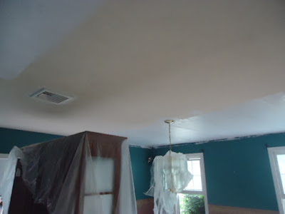 painting the ceiling.