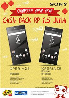 Promo Imlek Sony Cashback Rp 1.5 Juta di Global Teleshop dan OkeShop