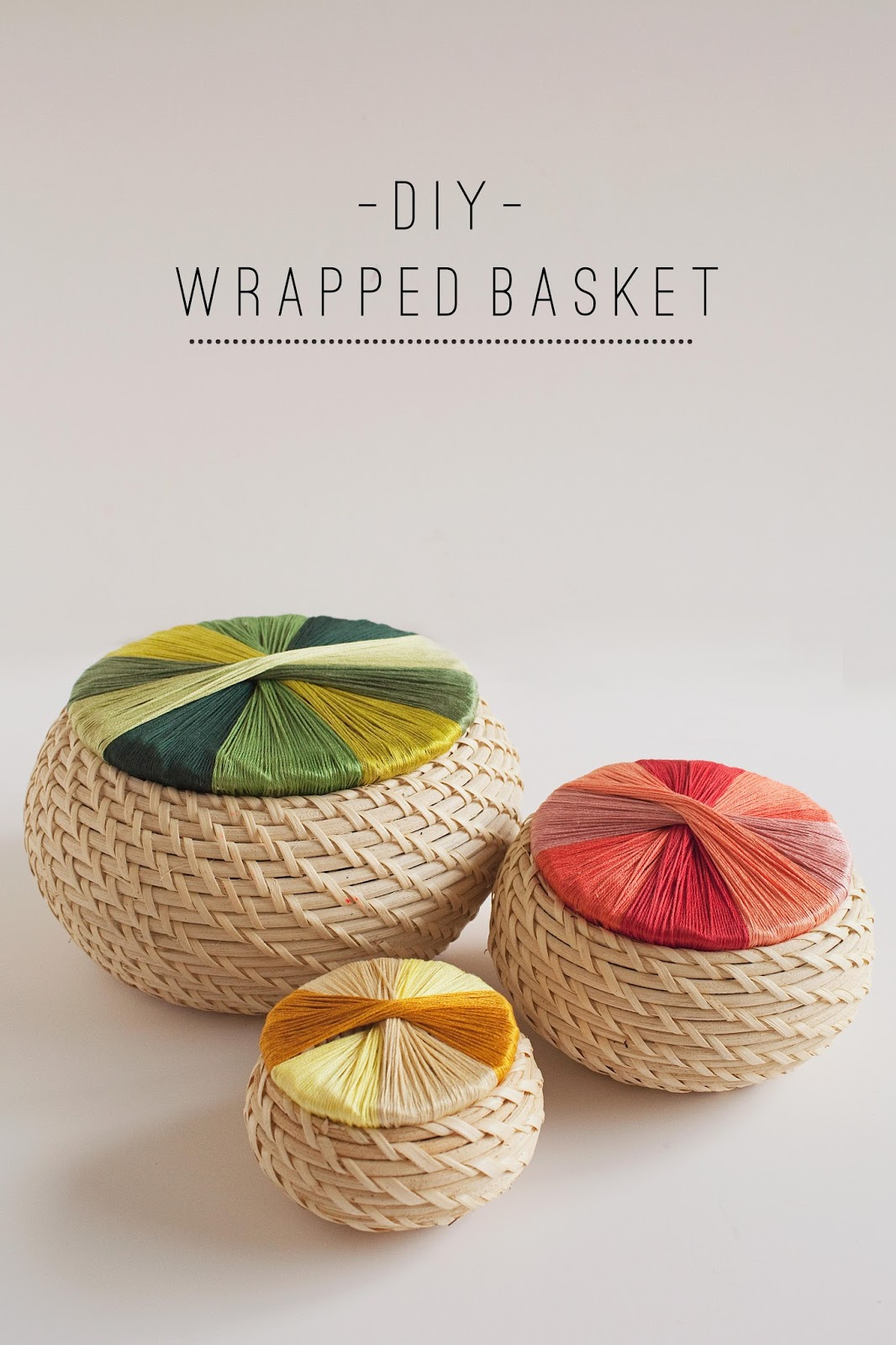 DIY Wrapped Basket - Tell Love and Chocolate