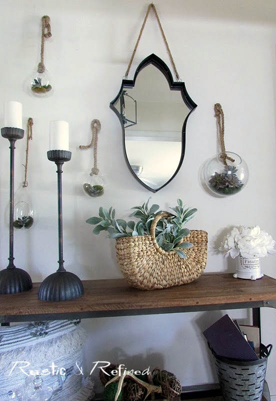 Rustic decor in the entryway