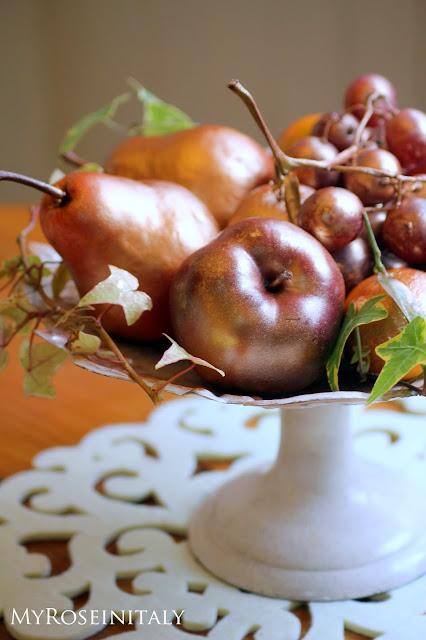 My RoseinItaly: Centrotavola natalizio con la frutta