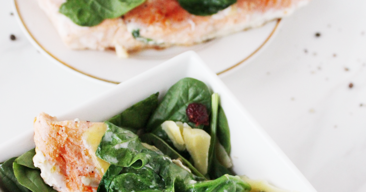 Late Girl's Guide: Spinach & Parmesan Salmon | Lulu Linden