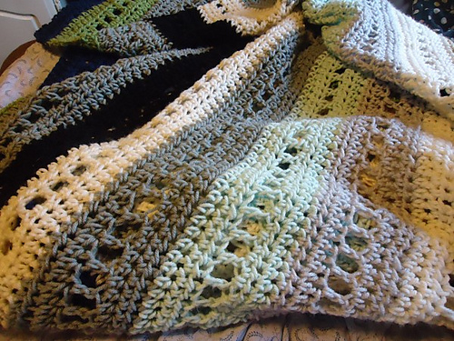 Crochet Patterns Block Afghan : Crochet Adventures!: Crochet Pattern: Blocks & Stripes Afghan