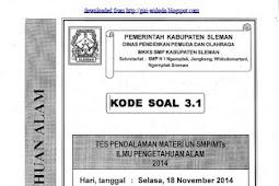 SOAL TPM SMP/MTs KABUPATEN SLEMAN (17-18 November 2014) IPA