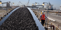 US coal for export: The market for fossil fuels is now struggling. (Image Credit: Peabody Energy, Inc., via Wikimedia Commons) Click to Enlarge.