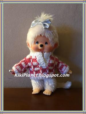 kiki monchhichi pull vêtement tricot poupées handmade fait main knitting