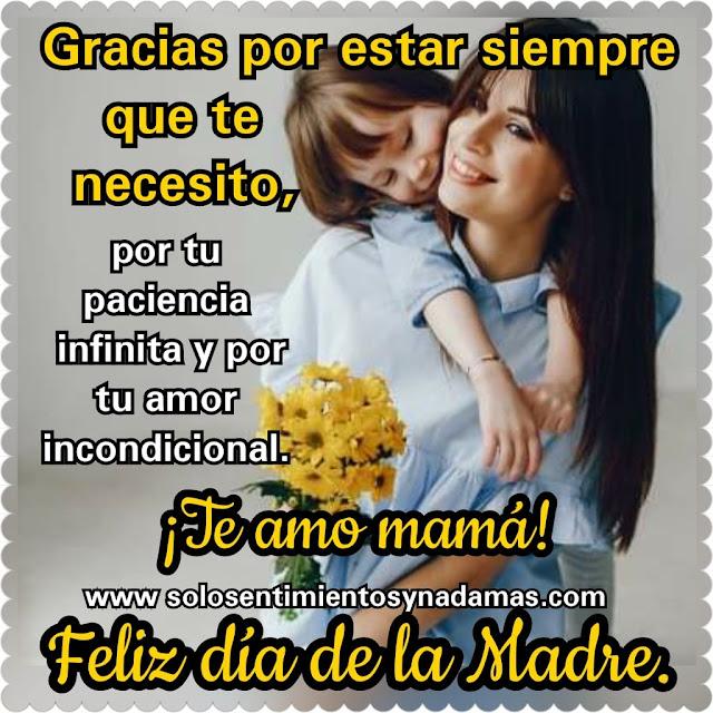 Feliz día de las madres.