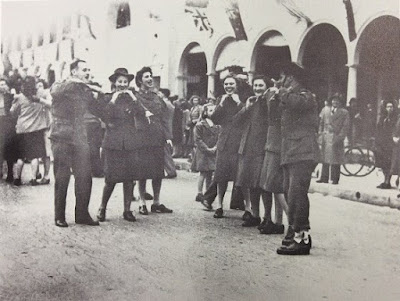 Canberrans celebrating the end of World War 11  before the official cessation 10 August 1945