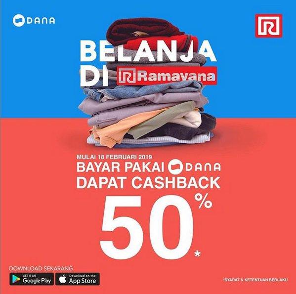 #Ramayana - #Promo Belanja Fashion Dapat Cashback 50% Pakai Dana
