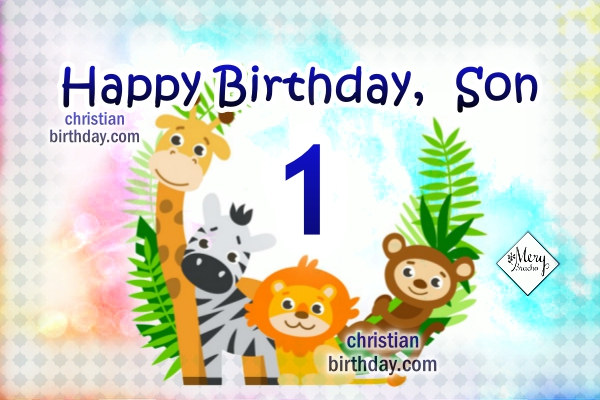 Happy Birthday Dear Son Birthday Cards For My Boy Christian
