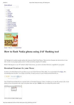 How to flash Nokia phone using JAF flashing tool Download eBook