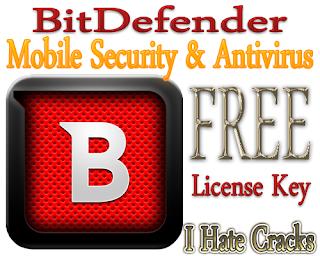 Free Download BitDefender Mobile Security & Antivirus Premium With 6 Months License Key