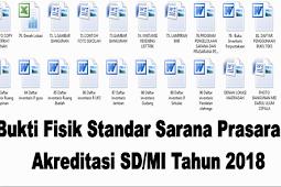 Bukti Fisik Standar Sarana Prasarana Akreditasi SD/MI Tahun 2018