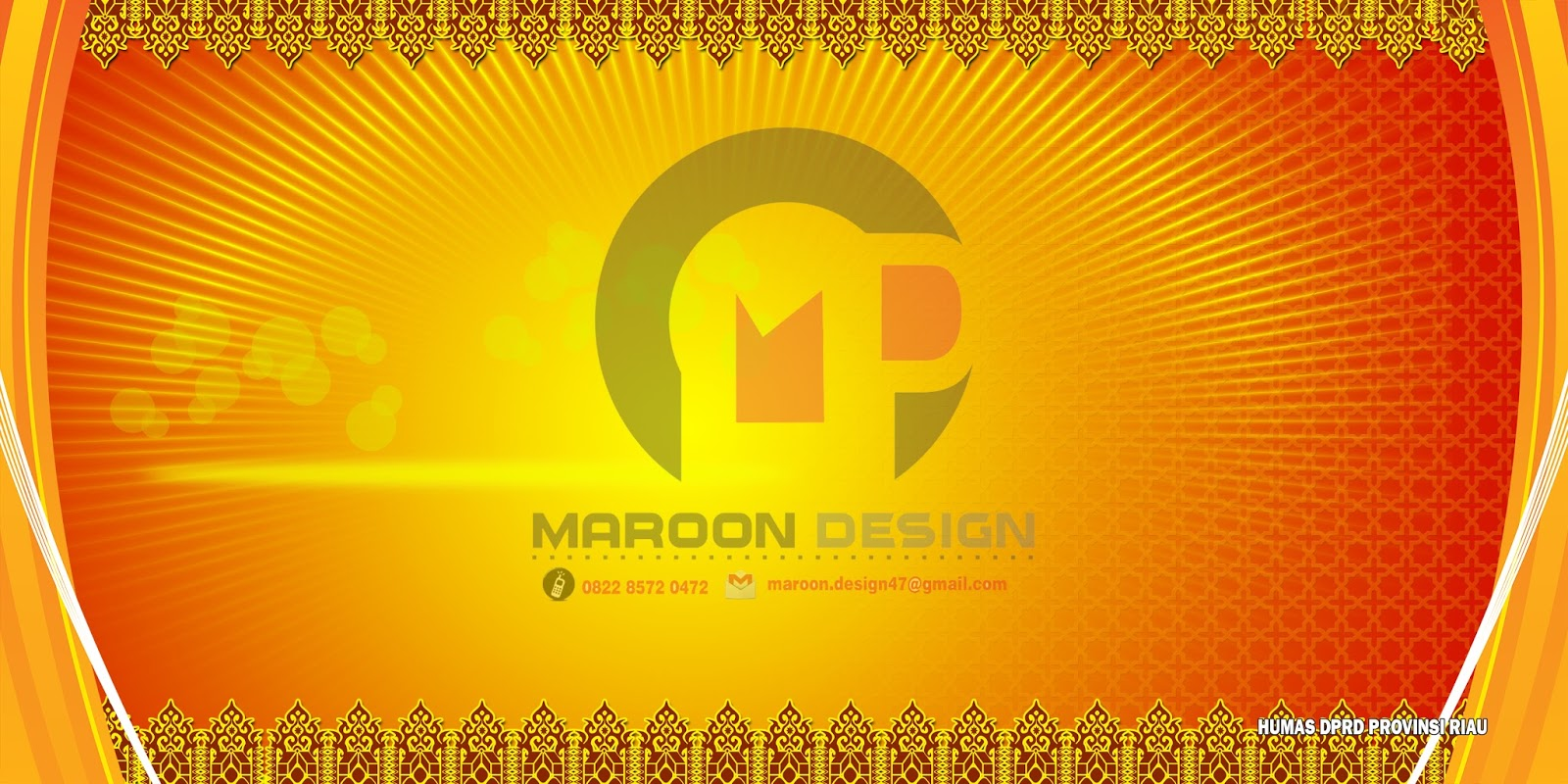 Desain Spanduk Melayu Orange 2016