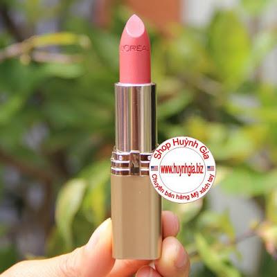Son môi L'oreal colour riche 444 tropical coral màu hồng san hô hàng Mỹ xách tay www.huynhgia.biz
