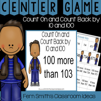 Second Grade Go Math 2.9 Count On and Count Back By 10 and 100 Quick and Easy to Prep Centers