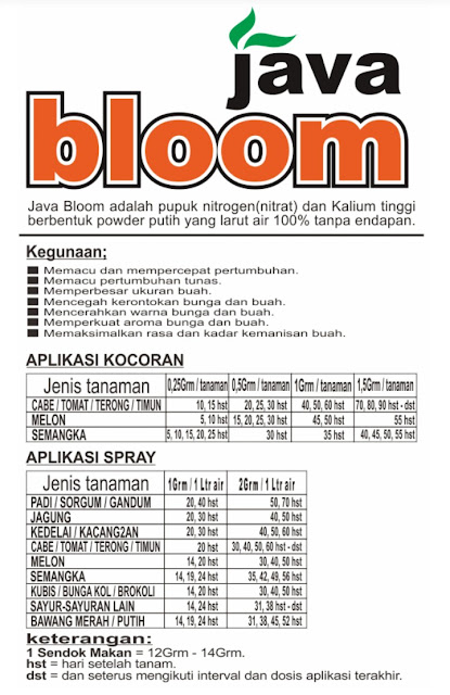 Pupuk Formula KNo3 Super Java Bloom
