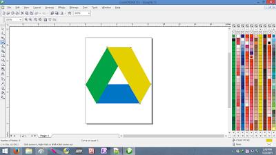 Cara Membuat Logo Google Drive Menggunakan CorelDRAW dengan Mudah