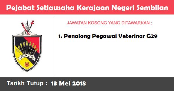 Jawatan Kosong di Pejabat Setiausaha Kerajaan Negeri Sembilan