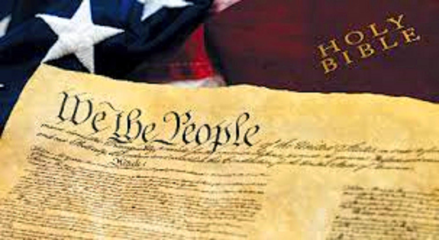 U.S. FLAG, BIBLE. AND THE CONSTITUTION - JULY 4th 1776