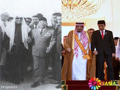 Genggaman Erat Jokowi-King Salman Mengenang Saat Sukarno Menggandeng Tangan King Saud Tahun 1963 Silam