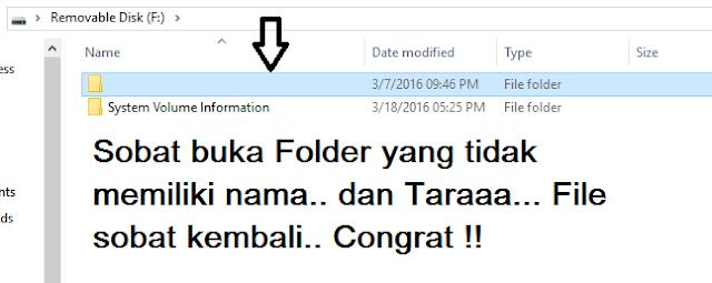 Buka folder tanpa nama sob.