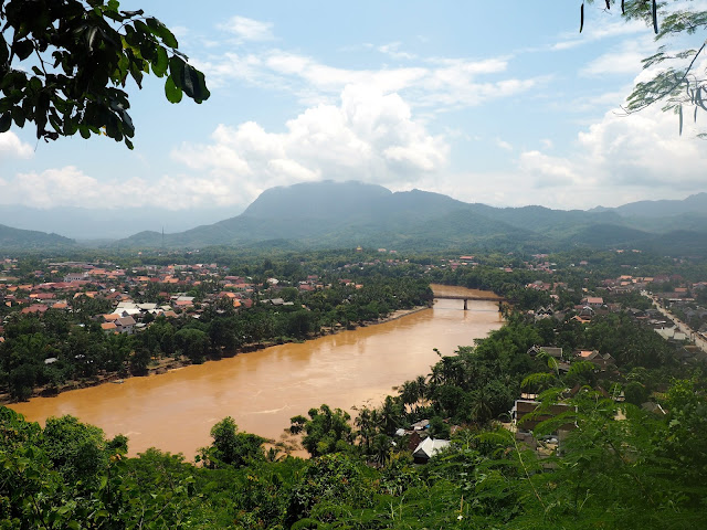 View of Luang Prabang from Phu Si mountain, Laos