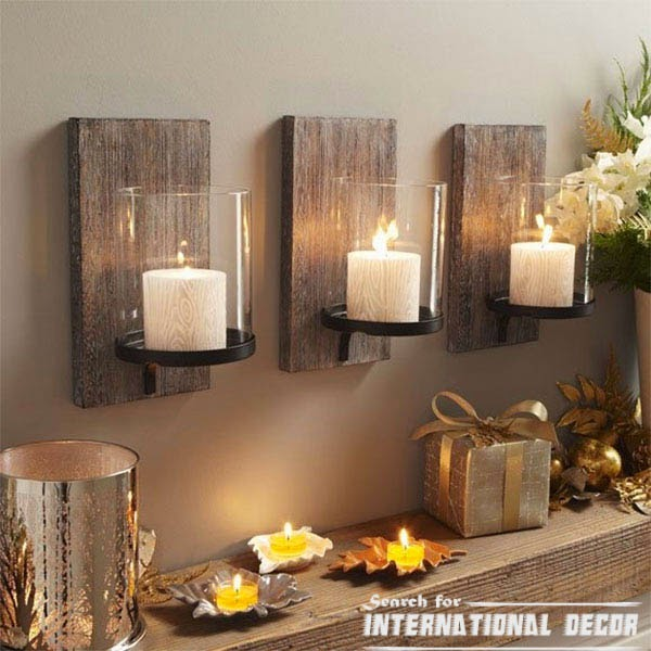 Recycle Old Wood Wall Candle Holder