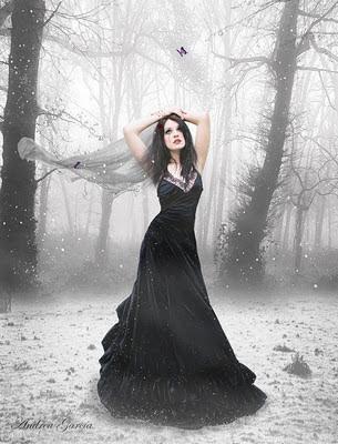 garota gotica,sozinha