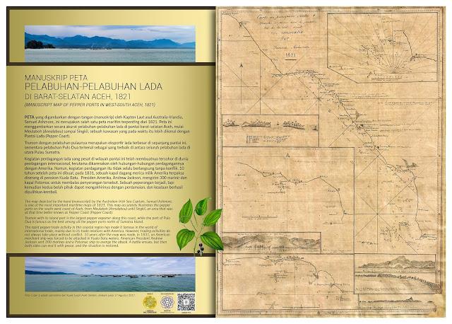 Manuskrip Peta Pelabuhan-pelabuhan Lada di Barat-Selatan Aceh, 1821