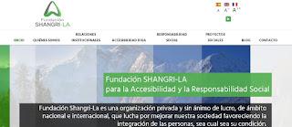 portad de la web de Fundación Shangri-La