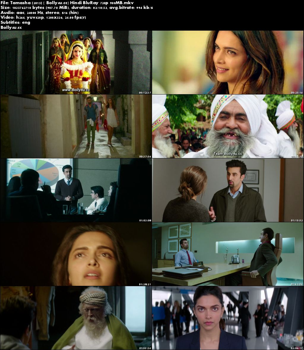 Tamasha 2015 BluRay 400Mb Full Hindi Movie Download 480p