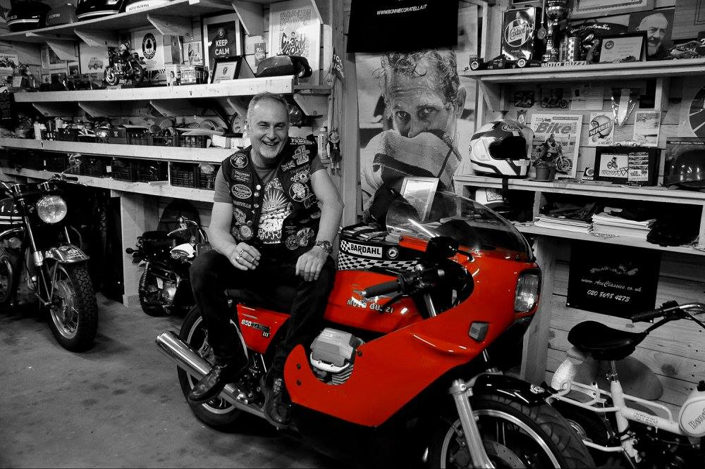 Ciborio 39 s man cave rocketgarage cafe racer magazine for Piani di caverna di garage uomo