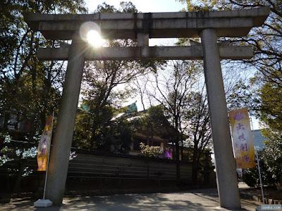 豊國神社裏門の鳥居