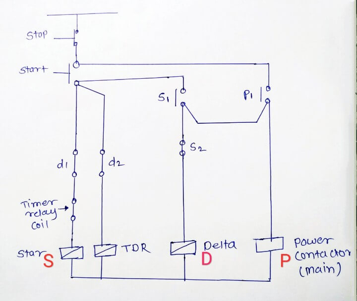 Star Delta Starter Working Principle Theory Circuit Diagram