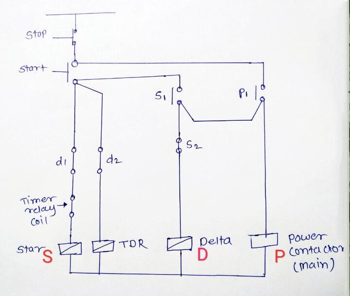 Star Delta Starter Wiring Diagram Please