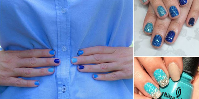 Nail Art That Deserves A Blue Ribbon