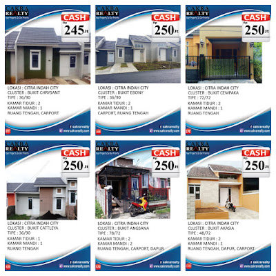 Rumah Secondary Citra Indah City cash 245 - 250  juta