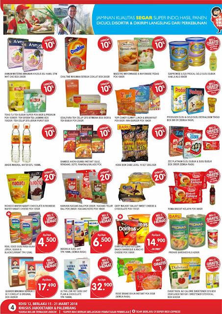 Katalog SUPER INDO Promo SUPERINDO Terbaru Periode 15 - 21 Maret 2018