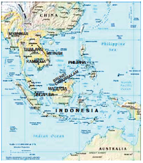 Letak Astronomis dan Geografis, Bentang Alam, Batas-Batas, Nama-Nama Negara, Sejarah dan Kegiatan Ekonomi Penduduk di Kawasan Asia tenggara