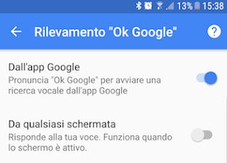 come disattivare ok google su android