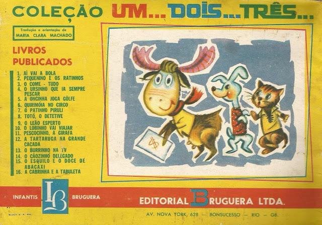 Coleção Um... Dois... Três... Editorial Bruguera CONTRACAPA
