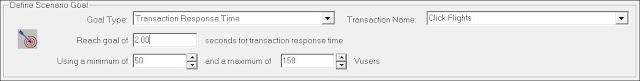 LoadRunner - Goal-Oriented Scenario - Transaction Response Time