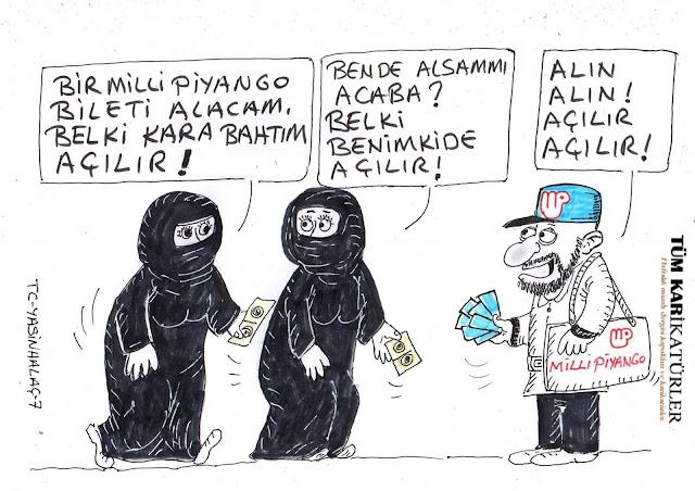 milli piyango haram karikatürü