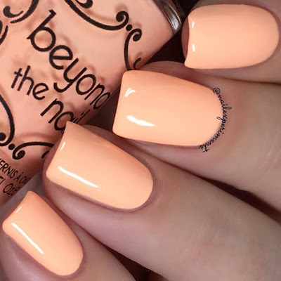 beyond the nail electric peach swatch